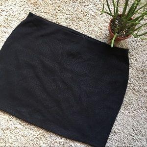 NWT Express   Black Printed Mini Skirt